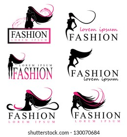 Fashion Woman Silhouette Isolated On White Background - Vector Illustration, Graphic Design Editable For Your Design. Fashion Logo