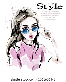 Girl Beautiful Stock Vectors, Images \u0026 Vector Art