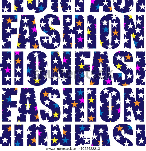 Fashion Word Collage Stars On White Stock Vector Royalty Free 1022422213