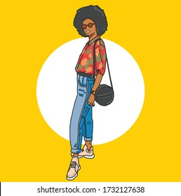 A fashionable African American lady
