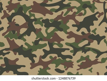 Fashionable camouflage pattern. Seamless pattern. Abstract military or hunting camouflage background. Vector illustration.