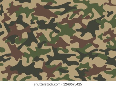 Fashionable camouflage pattern, vector illustration.