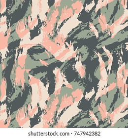 Fashionable camouflage pattern, vector illustration.Military print  Vector wallpaper