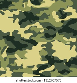 Fashionable camouflage pattern, vector illustration.Millatry print. banner