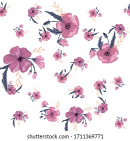 Fashionable cute pattern in native popies flowers. Flower seamless background for textiles, fabrics, covers, wallpapers, print, gift wrapping or any purpose