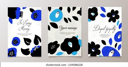 Fashionable funeral card, death notice. Vector design