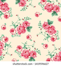 Fashionable pattern in small flowers. Floral background for textiles.