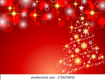 Fashionable and simple Christmas tree background