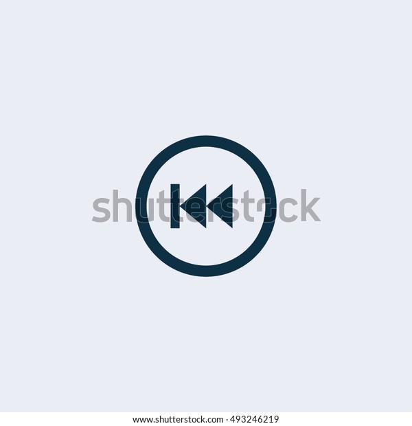 Fast back rewind icon. Vector concept illustration for design.