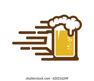 Fast Beer Icon Logo Design Element