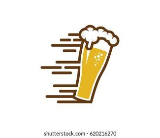 Fast Beer Icon Logo Design Element