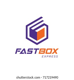 Fast Box Expedition Shipping Logo Symbol