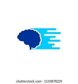 fast Brain Icon Logo Design Element
