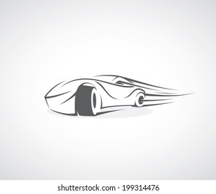 Fast car - vector illustration