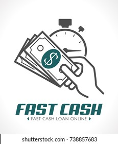 Fast cash concept - quick loan concept