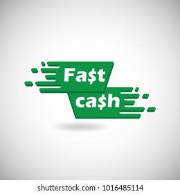 Fast Cash Logo Icon and Logo. Transaction Logo Symbol icon. Vector Illustration