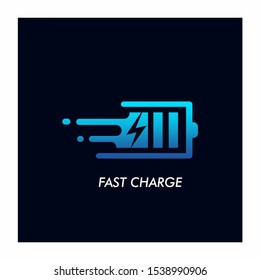 Fast Charge Battery Logo Design Vector Icon
