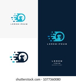 Fast Cleaning logo designs concept vector, Cleaning Service logo symbol, Sprayer logo