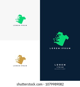 Fast Cloth Logo designs concept vector, Cloth logo template designs, Fast Fashion logo designs