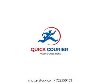 Fast Courier Run Logo