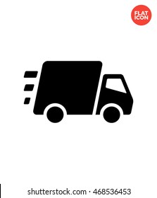 Fast Delivery Icon Flat Style Isolated Vector Illustration