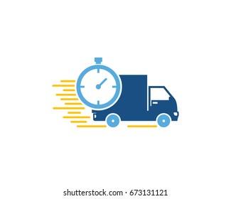 Fast Delivery Icon Logo Design Element
