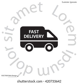 fast delivery icon . Vector illustration.