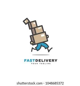 Fast delivery logo template design. Vector illustration.
