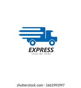 fast delivery logo vector icon illustration design