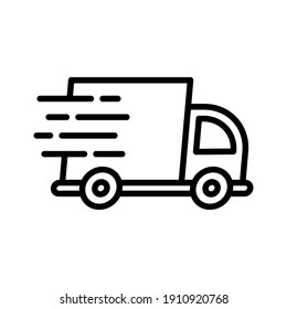 Fast delivery, shipping, truck icon vector image. Can also be used for Delivery and logistics. Suitable for use on web apps, mobile apps and print media.