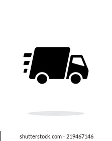 Fast delivery Truck icon on white background. Vector illustration.