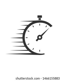 Fast delivery vector icon with timer