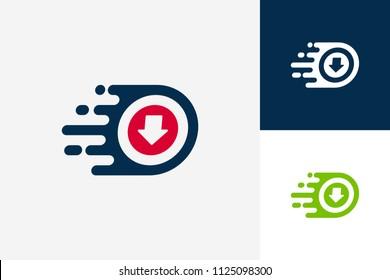 Fast Download Logo Template Design Vector, Emblem, Design Concept, Creative Symbol, Icon