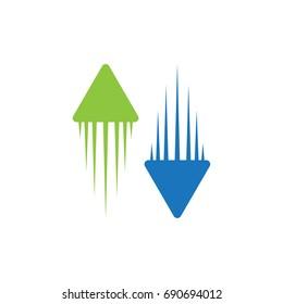 fast download upload arrow vector