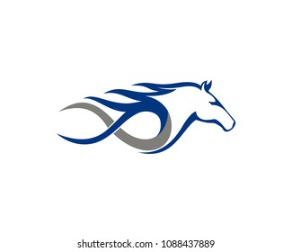 Fast Equine horse logo