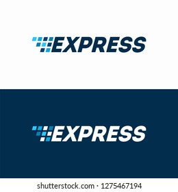 Fast Express Delivery Logo designs template, Logistic Logo designs concept vector