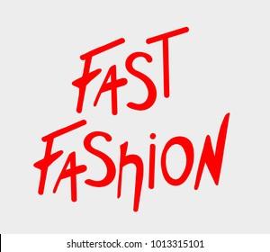 Fast fashion lettering, banner logo statement