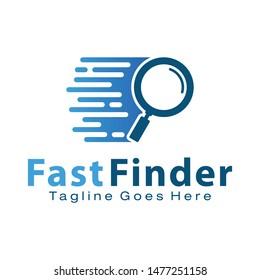 Fast Finder logo design template