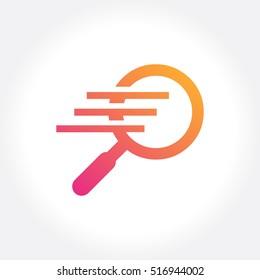 Fast finder logo template design. Vector illustration