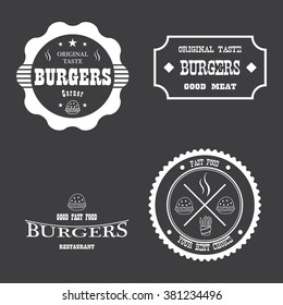 Fast food badges and icons