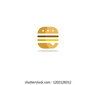 Fast food burger logo