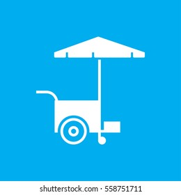 fast food cart icon illustration isolated vector sign symbol