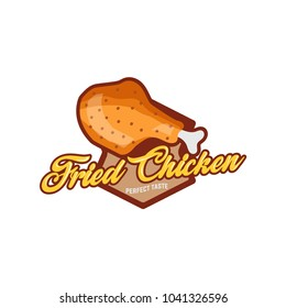 Fast food diner labels set. Fried chicken signs and banners. Playful signs collection perfect for food truck or fast food restaurant.