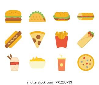 Fast food flat icon