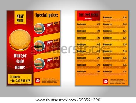 fast food flyer design vector template のベクター画像素材