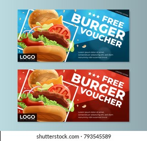 Fast Food Free Burger Voucher Template