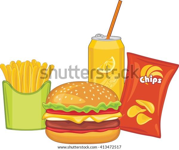 fast-food-hamburger-orange-drink-600w-41