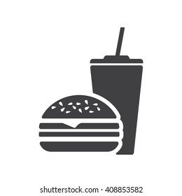 Fast Food icon on the white background.