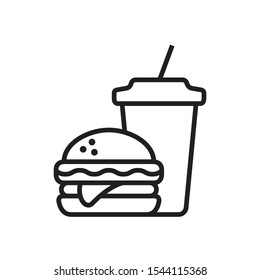 Fast food icon in trendy outline style design. Vector graphic illustration. Suitable for website design, logo, app, and ui. Editable vector stroke. EPS 10.