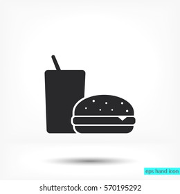 Fast food icon Vector icon 10 EPS